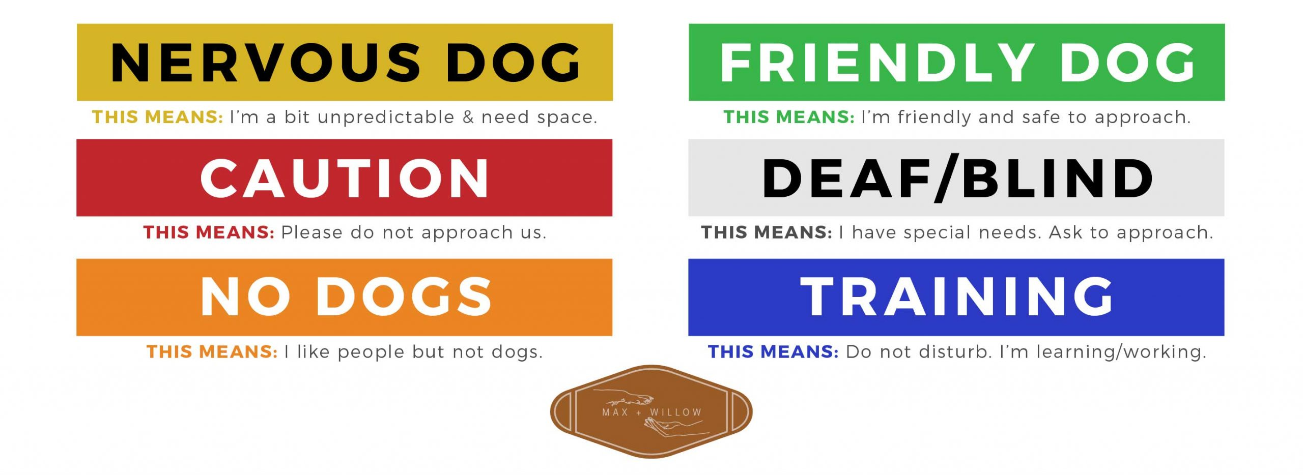 Max and Willow Colour Coded Awareness Leash Sleeves-01