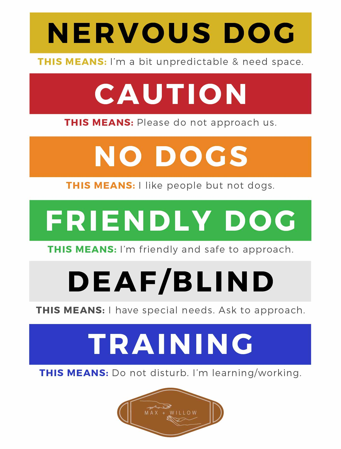 Max and Willow Colour Coded Awareness Leash Sleeves-02